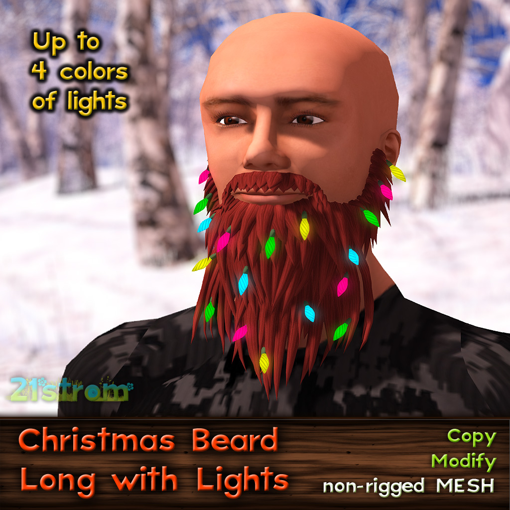 Christmas Beard with Lights – 21strom – World is Colorful